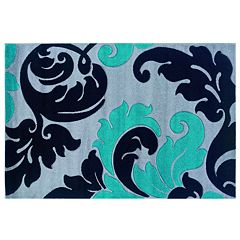 Linon Corfu Collection Leaves Rug - 8' x 10'3''