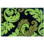 Linon Corfu Collection Leaves Rug - 8' x 10'3''