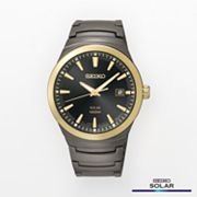 Seiko Solar Two Tone Stainless Steel Watch - SNE252 - Men