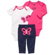 Carter's Butterfly I Love Mommy Bodysuit Set - Preemie