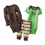 Carter's Monkey Turn Me Around Bodysuit Set - Preemie