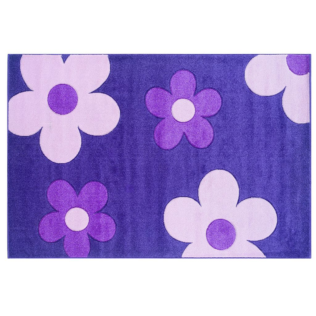 Linon Home Decor Corfu Collection Floral Rug - 1'10'' x 2'10''