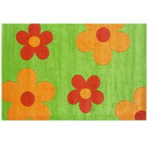 Linon Corfu Collection Floral Rug - 3' x 5'