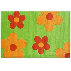Linon Corfu Collection Floral Rug - 5' x 7'7''
