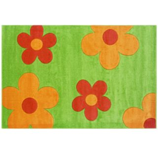 Linon Corfu Collection Floral Rug - 5' x 7'7''