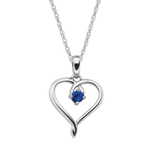 Sterling Silver Sapphire Openw...