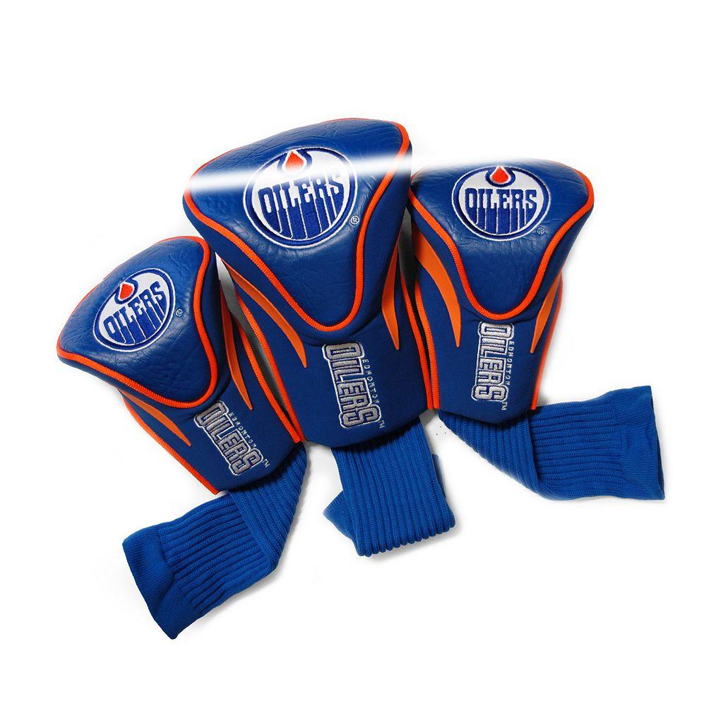 Team Golf Edmonton Oilers 3-pc. Contour Head Cover Set