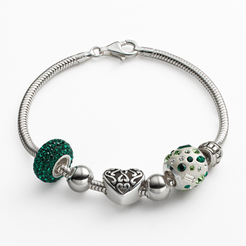 Emerald Park Jewelry Big Sister Snake Chain Charm Bracelet
