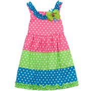 Rare Editions Polka-Dot Colorblock Sundress - Toddler