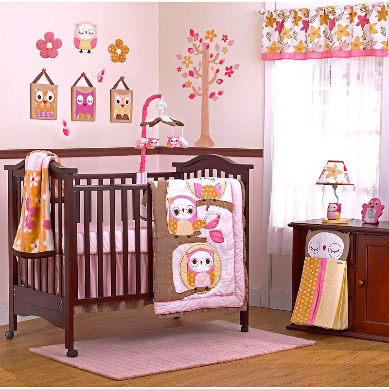 CoCaLo Baby In the Woods 8-pc. Crib Bedding Set, Pink/Brown