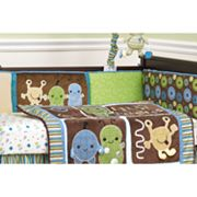 CoCaLo Baby Peek A Boo Monsters 4-pc. Reversible Crib Bumper