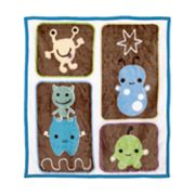 CoCaLo Baby Peek A Boo Monsters Blanket