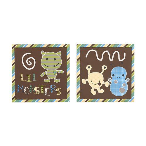 CoCaLo Baby Peek A Boo Monsters 2-pc. Canvas Wall Art Set