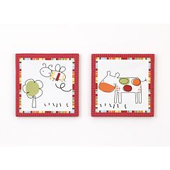 CoCo & Company Baby Farm 2 pc Canvas Wall Art Set