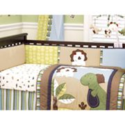 CoCo and Company Chomp and Stomp 4-pc. Reversible Crib Bumper