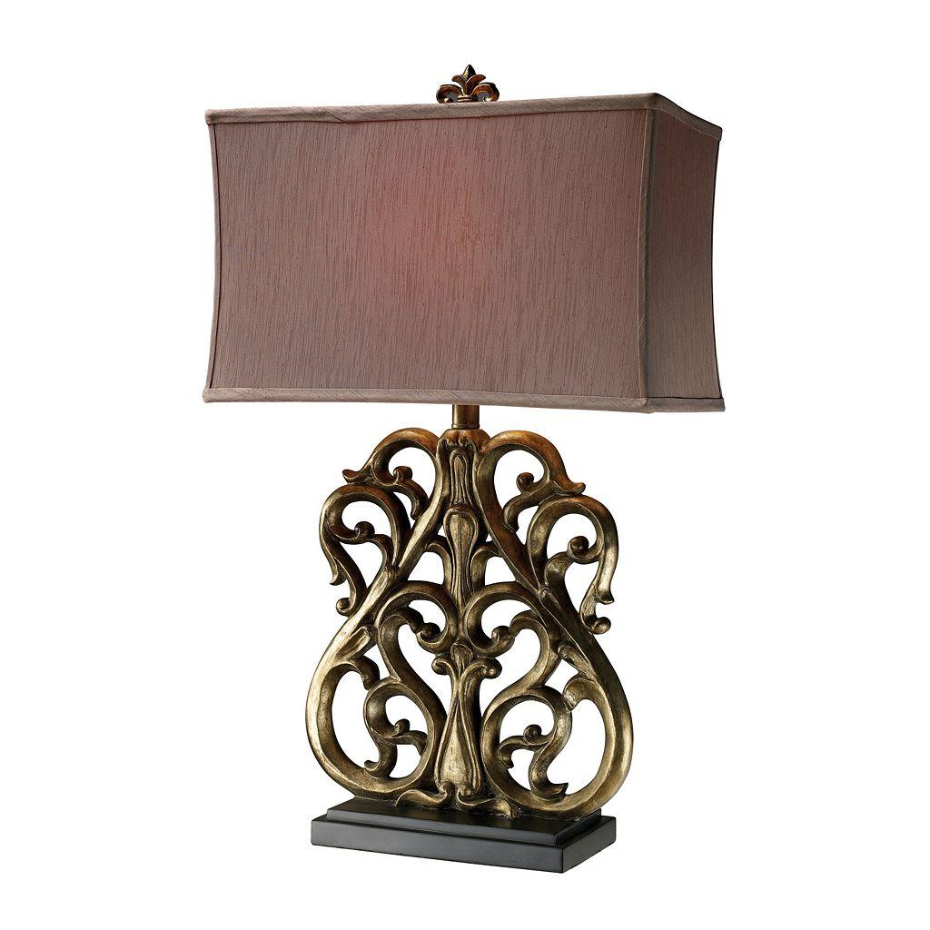 Flocked Table Lamp