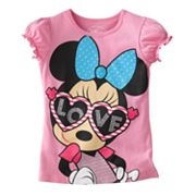 Disney Mickey Mouse and Friends Minnie Mouse Love Tee - Girls 4-6x