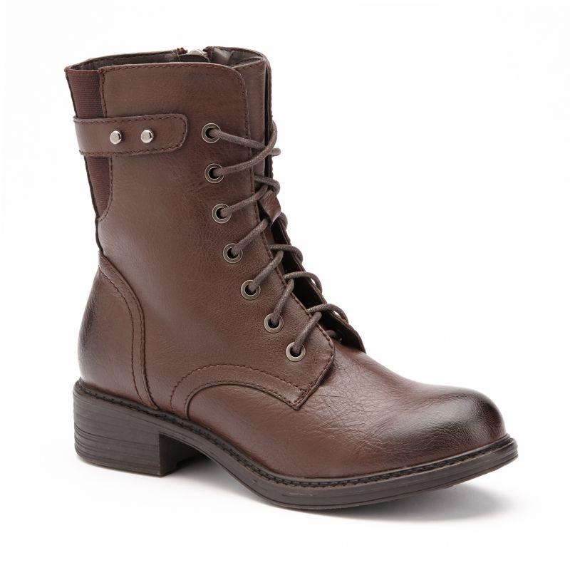 black womens combat boots kohl s