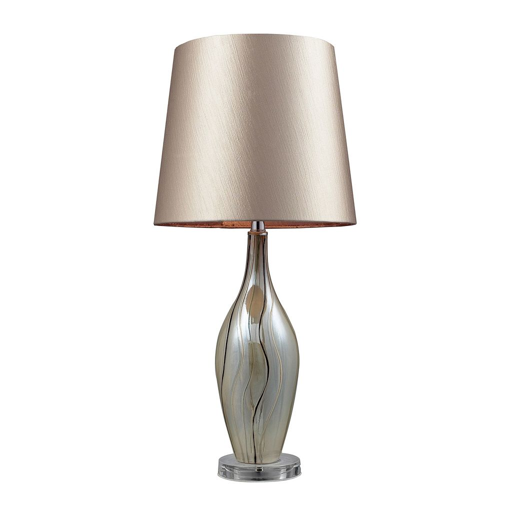 Contemporary Swirled Table Lamp