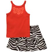 Carter's Floral Tank and Zebra Skirt Set - Toddler