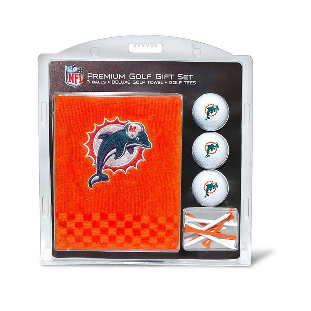 Team Golf Miami Dolphins Embroidered Towel Gift Set