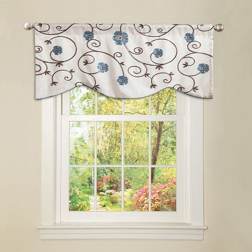 "Lush Decor Royal Garden Window Valance - 42"" x 18"""
