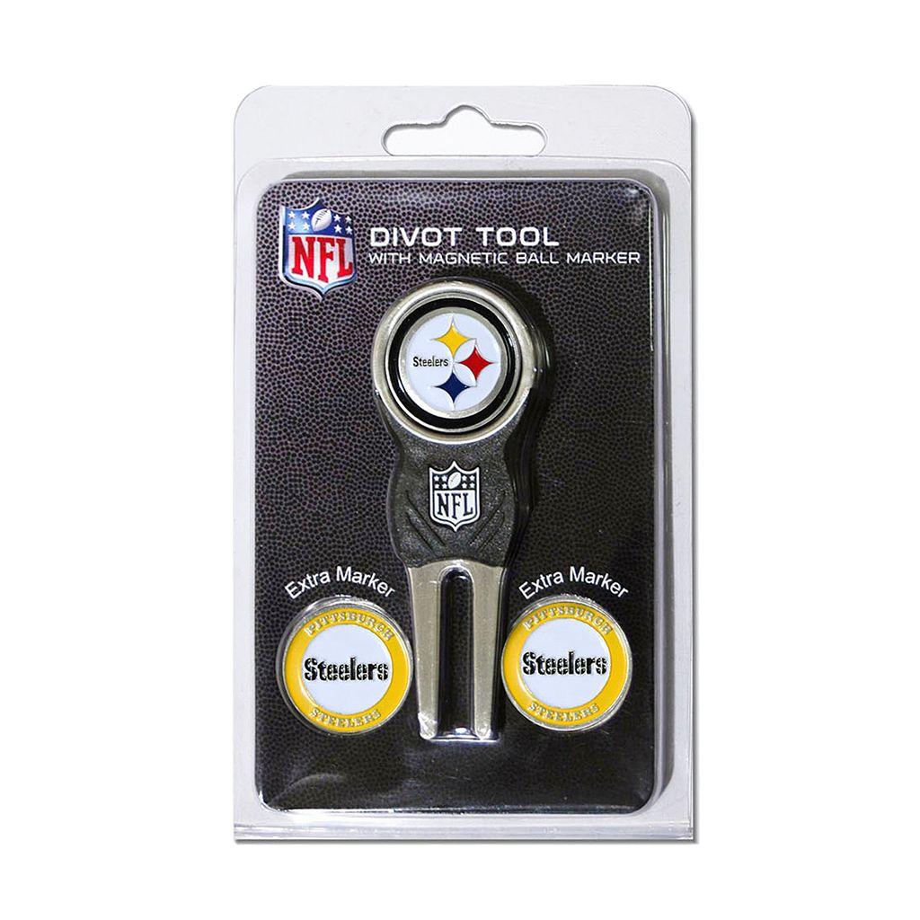 Team Golf Pittsburgh Steelers 4-pc. Divot Tool & Ball Marker Set