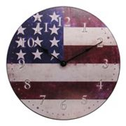 Geneva Clock 12-in. Flag Wall Clock