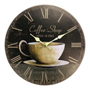 Geneva Clock 12-in. Coffee Wall Clock