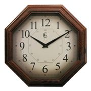 Geneva Clock 12-in. Octagon Wall Clock