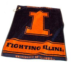 Team Golf Illinois Fighting Illini Woven Towel