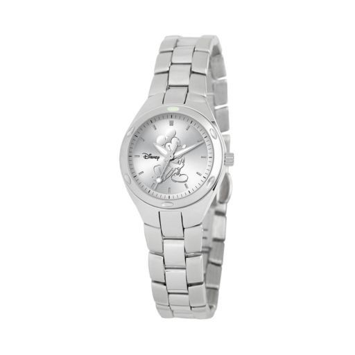 Disney's Mickey Mouse Silhouette Women's Stainless Steel Watch