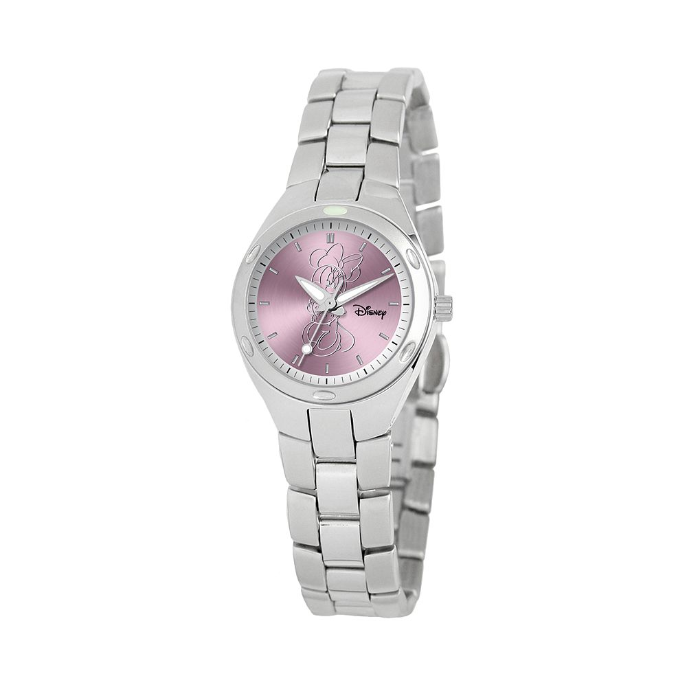 Disney's Minnie Mouse Silhouette Women's Stainless Steel Watch