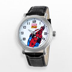 Marvel Spider-Man Men's Leather Watch