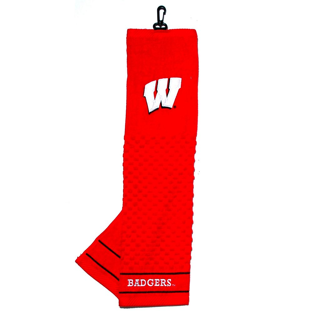 Team Golf Wisconsin Badgers Embroidered Towel