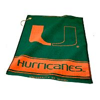 Team Golf Miami Hurricanes Woven Towel