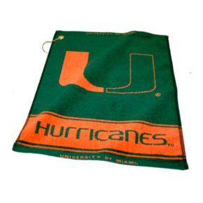 Team Golf Miami Hurricanes Woven Towel