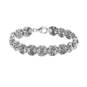 Sterling Silver Rosetta Bracelet