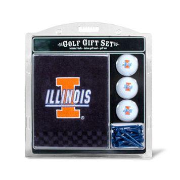 Team Golf Illinois Fighting Illini Embroidered Towel Gift Set