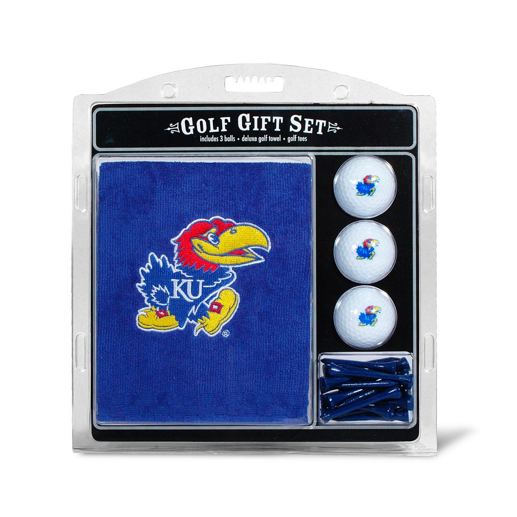 Team Golf Kansas Jayhawks Embroidered Towel Gift Set