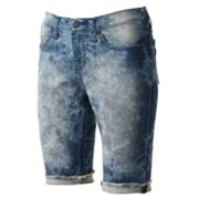 Rock and Republic Tie-Dye Denim Bermuda Shorts