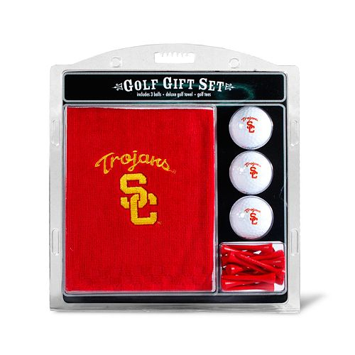 Team Golf USC Trojans Embroidered Towel Gift Set