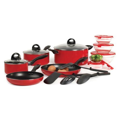 Basic Essentials 17-pc. Nonstick Cookware Set