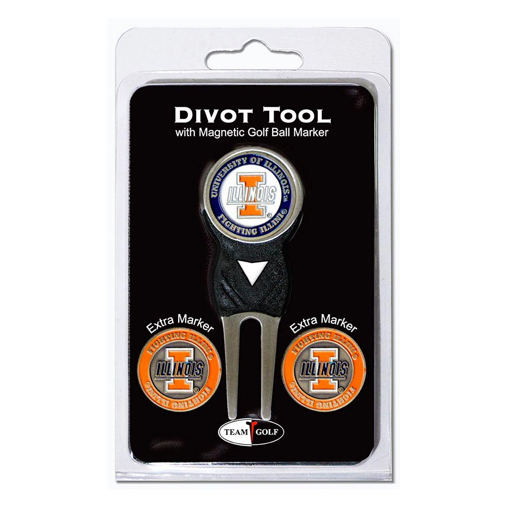 Team Golf Illinois Fighting Illini 4-pc. Divot Tool & Ball Marker Set