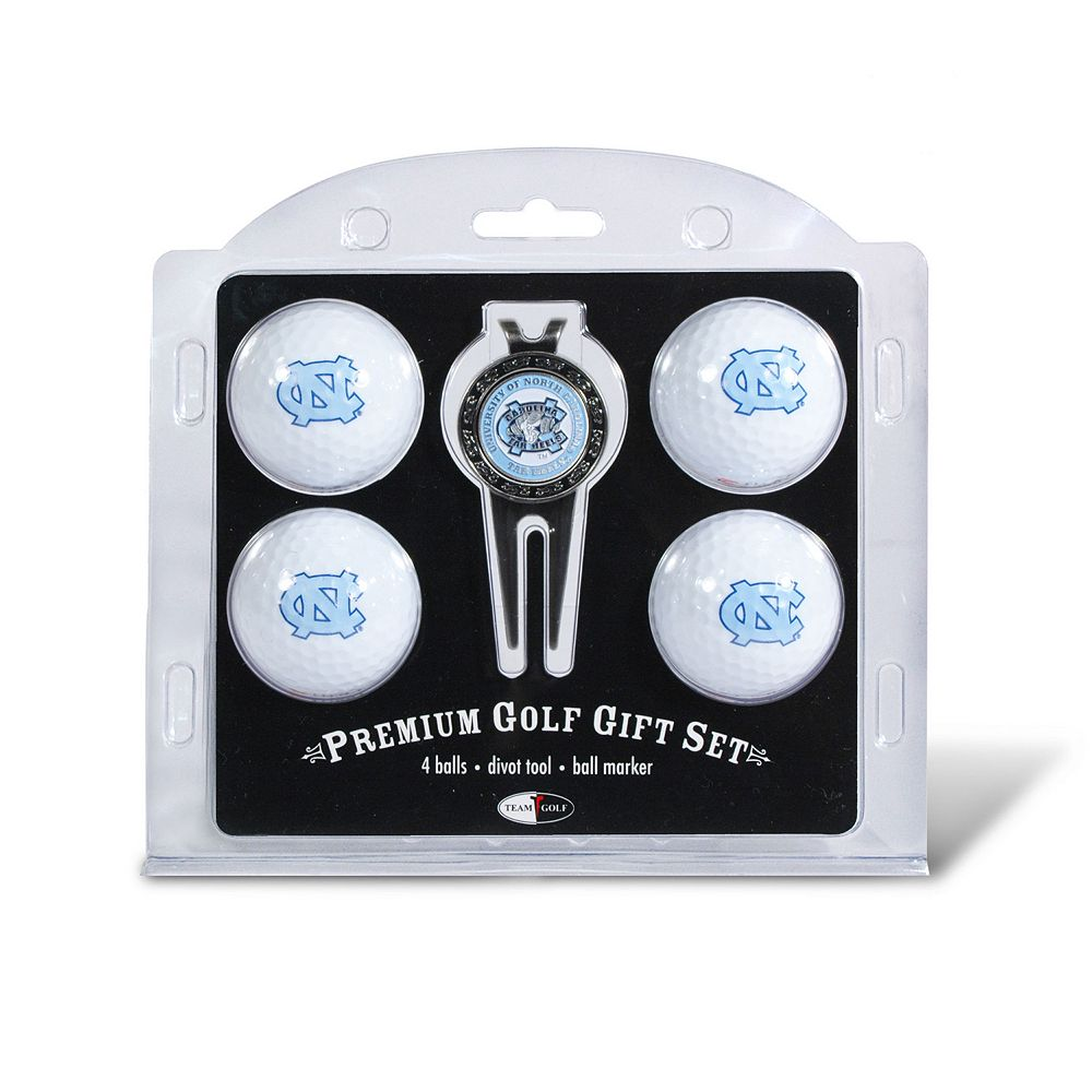 Team Golf North Carolina Tar Heels 4-pc. Divot Tool & Ball Marker Set