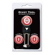 Team Golf Ohio State Buckeyes 4 pc Divot Tool & Ball Marker Set