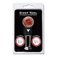 Team Golf Oklahoma Sooners 4 pc Divot Tool & Ball Marker Set