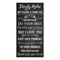 """""""Family Rules"""" Canvas Wall Art by Louise Carey"""