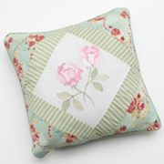 Hedaya Oriana Embroidered Reversible Decorative Pillow