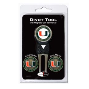 Team Golf Miami Hurricanes 4-pc. Divot Tool and Ball Marker Set